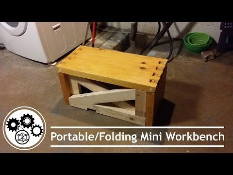 Folding Mini Workbench - YouTube