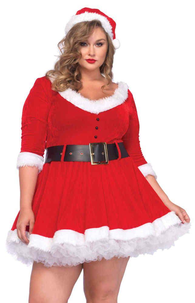 Women's Plus Size Miss Santa Costume