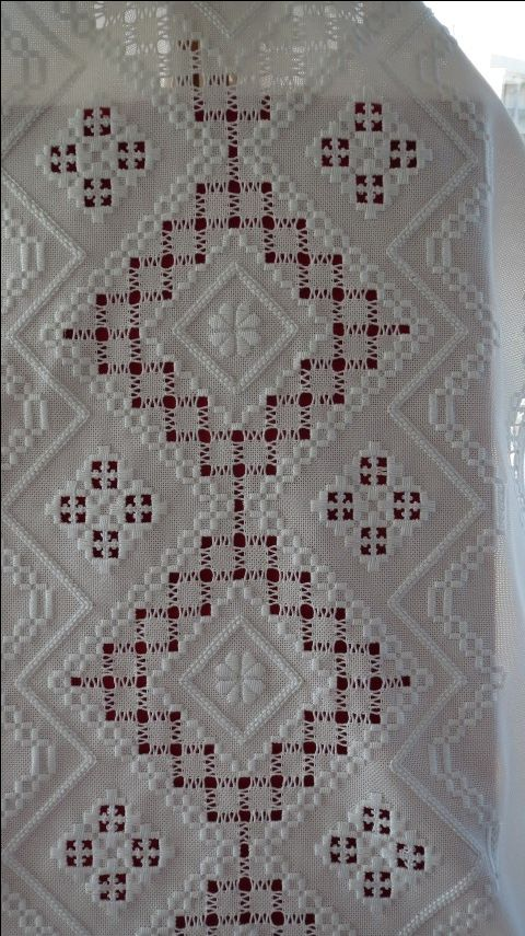 What a great piece done in white hardanger and drawn thread
