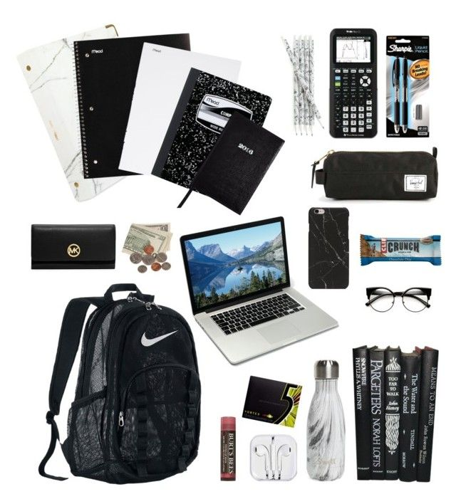 """""""What's in My Backpack - Minimalist Edition"""" by juhleeeen on Polyvore featuring art, BackToSchool, school, minimalism and whatsinmybackpack"""