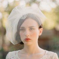 100% Handmade duplo - camada de véu de noiva Concise cocar de casamento da noiva do noivo Styling acessórios de cabelo