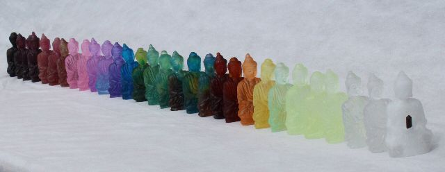 Enlightened Spectrum  cast glass by Kim Logue