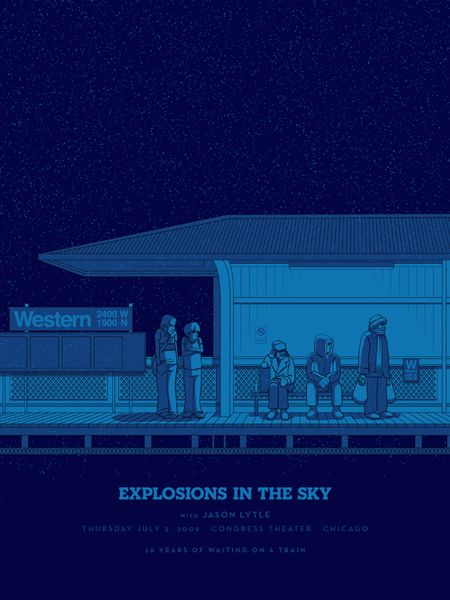 Explosions In The Sky  Tour Chicago Poster