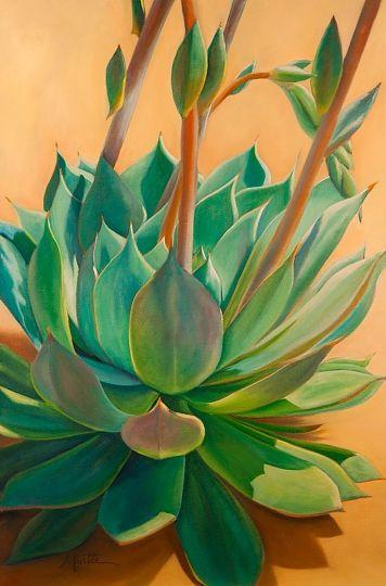 """Desert Rainbow"" - Oil on Canvas, in Succulent Paintings"