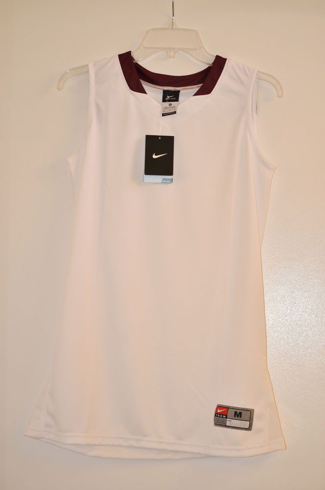 NIKE Spartacus Basketball Game Jersey Base Layers Whites, Polyester Women size M #Nike #BaseLayers
