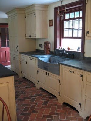 Perfect Love This Kitchen By Timeless Kitchen Design (Kevin Ritter). The Floors Are  Thin. Brick Floor KitchenBrick Tile ...