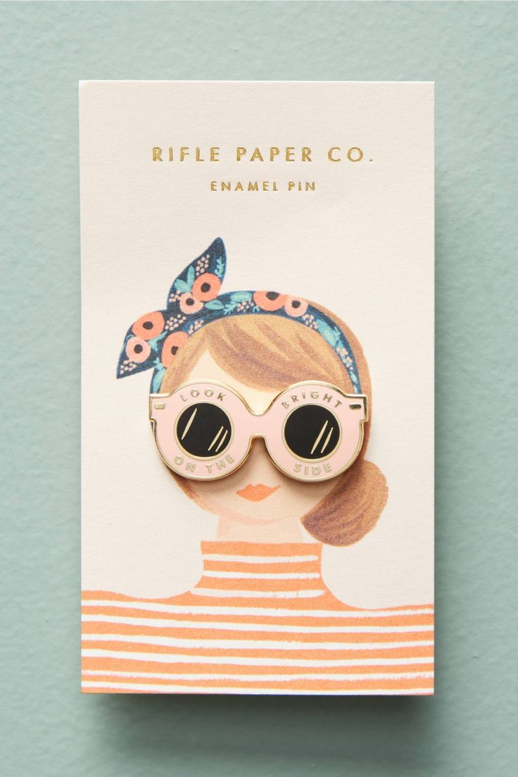 Look on the bright side pin - Rifle Paper Co.
