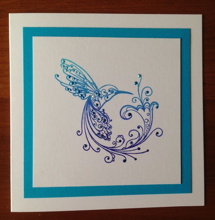 Rubber Stamp Card Making Ideas Part - 48: Hummingbird, Pearl, Ink Pads, Bird Cards, Image, Handmade Cards, Card Making,  Card Ideas, Craft