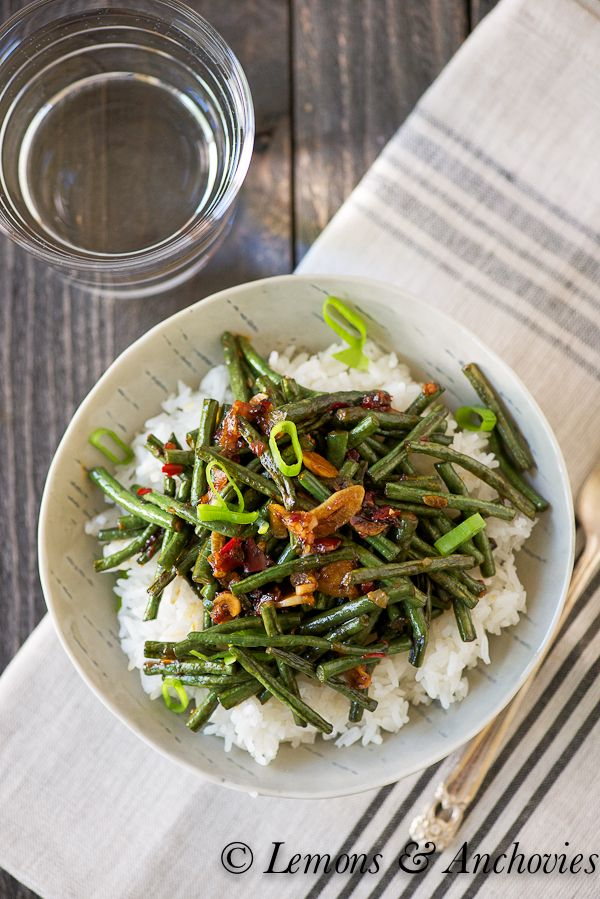Stir-Fried String Beans (Chinese Long Beans) | Lemons and Anchovies