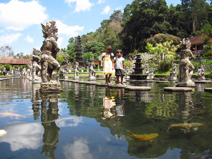 Taman Tirtagangga Water Palace #Bali - beautiful location, gardens and fresh water pools you can swim in! Perfect stop off on a trip up the east coast #culture