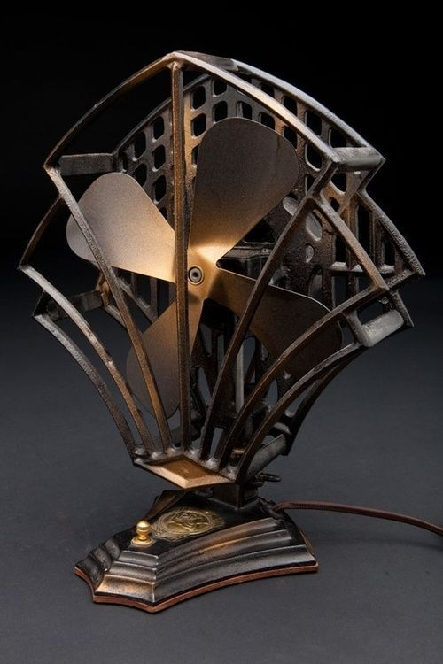 The Coolest Old Art Deco Style Electric Fan The Metal