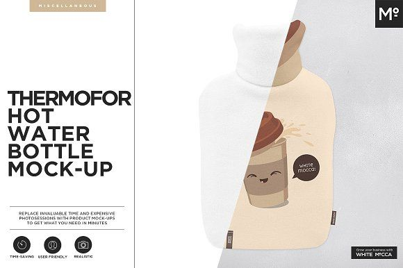 Thermofor Hot Water Bottle Mock-up by Mocca2Go/mesmeriseme on @creativemarket