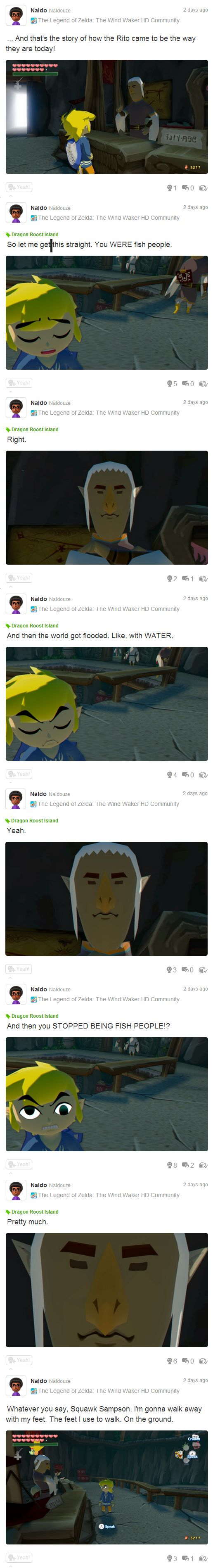 The Legend of Zelda: The Wind Waker HD, Toon Link and a Rito Tribesman