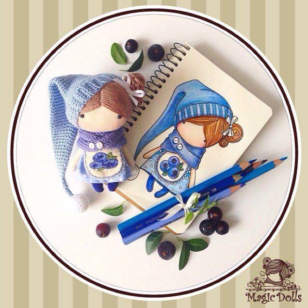 Ma Petite Poupee - Blueberry Gnome (for example/для примера) manufacturing in 2016 #magic__dolls #poupee #doll #coffee #кукла #textiledoll #fabricdoll #petite #crochet #sew #draw #sketch #decor #artdoll #amigurumi #crochedoll #тряпичнаякукла #handmade #творчество #зарисовка #ручнаяработа #текстильнаякукла #авторскаякукла #хендмэйд #эскиз #рисунок #декор #голубика #куклаизткани #blueberry
