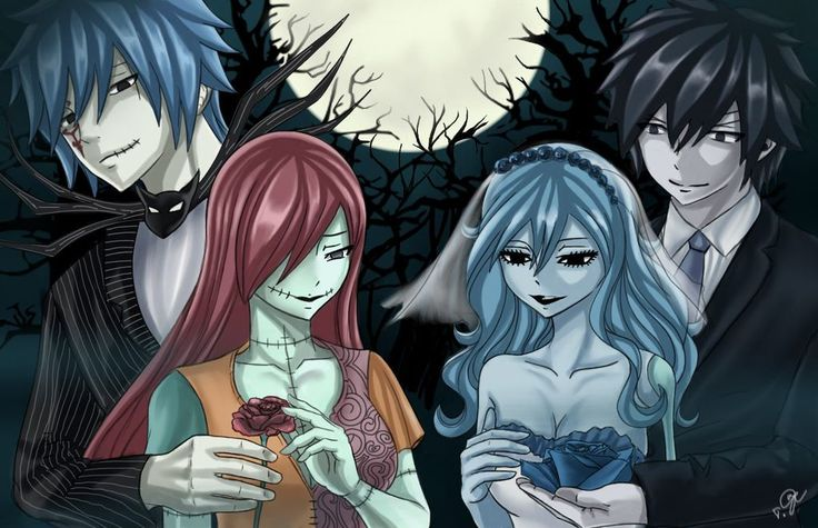 Fairy Tail - Jellal x Erza and Grey x Juvia
