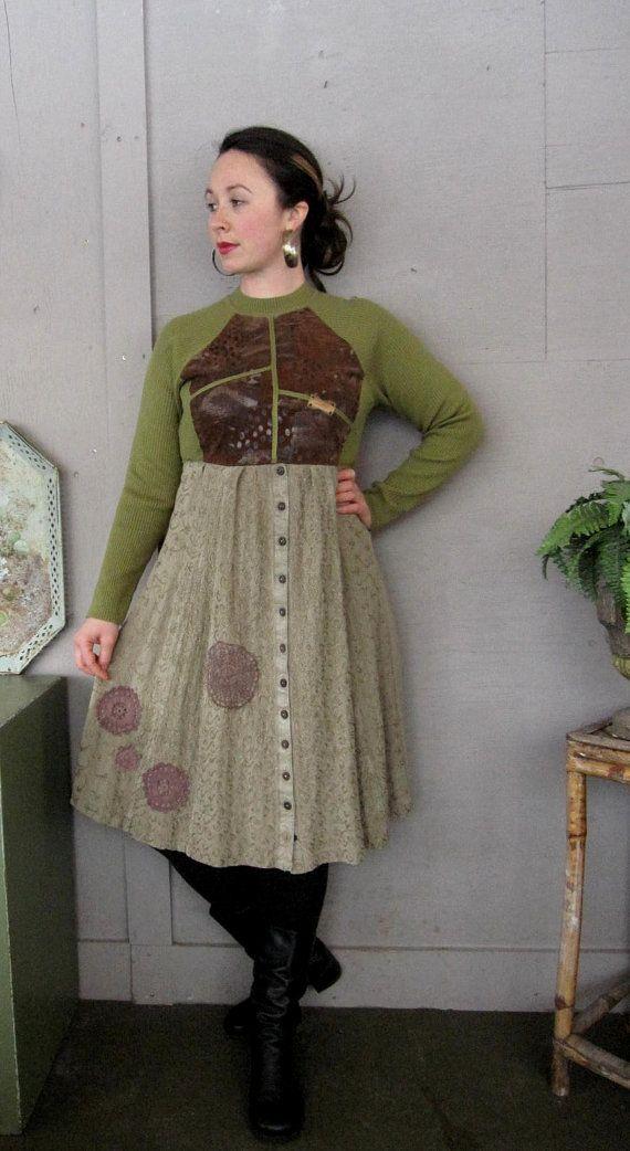 xsmallmedium upcycled clothing Artsy funky by lillienoradrygoods, $57.50