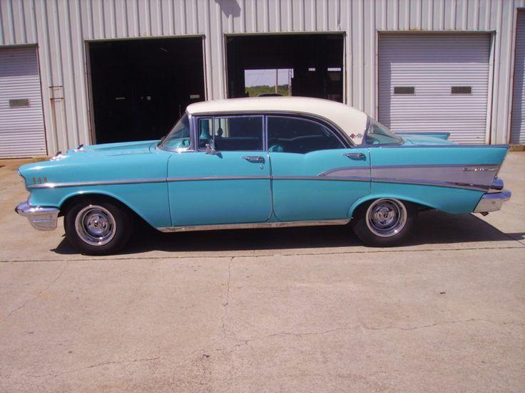 1957 chevy bel air 4 door hardtop rare car 1966 corvette for 1957 chevy 4 door