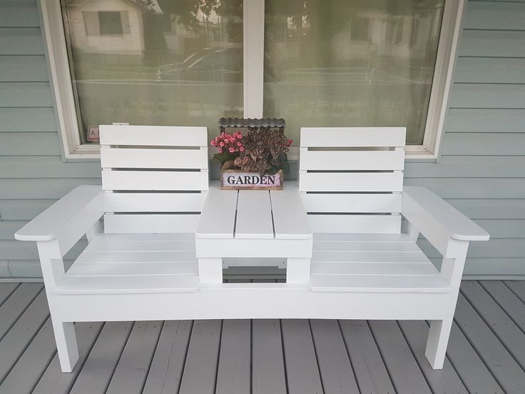 Diy Double Chair Bench With Table Diy Projects Diypete With Images Diy Bench Outdoor