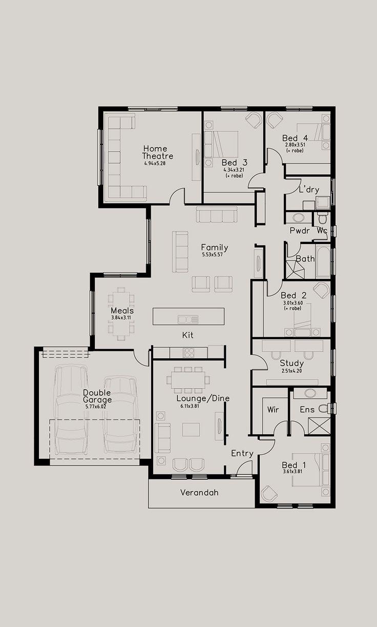 424 best Floor Plans images on Pinterest | Floor plans, House floor ...