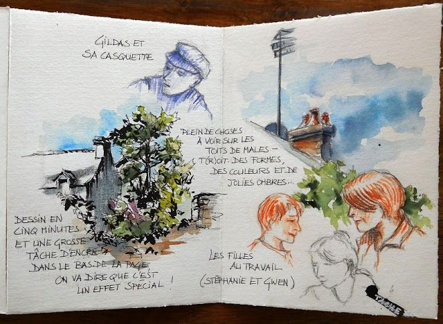 Stage A Malestroit Workshop In Malestroit Watercolor Landscape