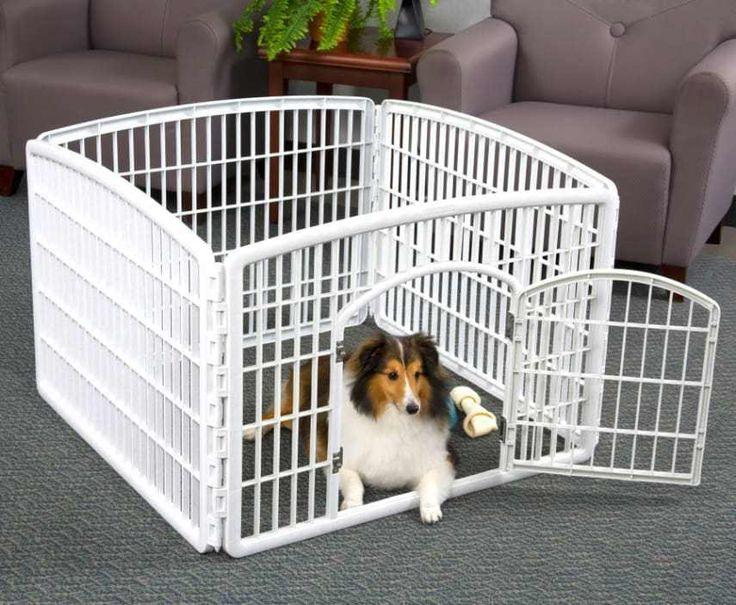 "4-Panel Pet Playpen Puppy Dog Exercise Pen Indoor Outdoor Cage Kennel Fence 24""H #IRISUSAInc"