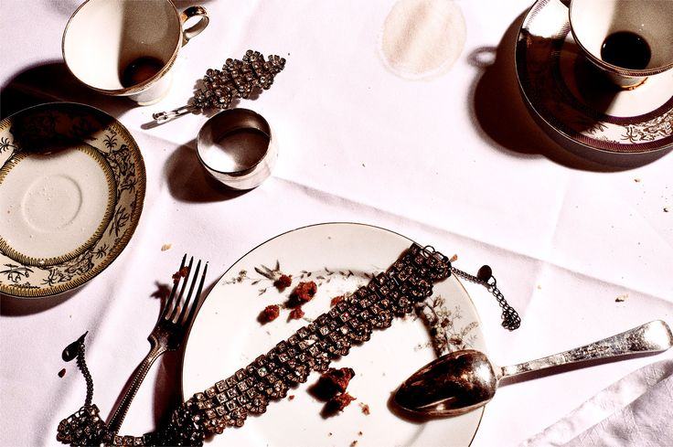 She'd been making the right decisions since she ordered dessert...  A boudoir inspired necklace by Scotch & Soda