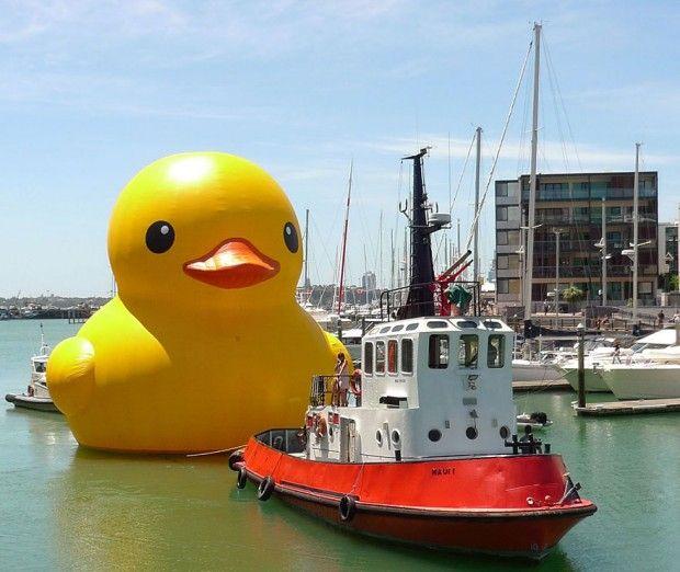 Le nouveau travail de l'artiste contemporain hollandais Florentijn Hofman est impressionnant. Son nom : Rubber Duck, soit le canard le plus grand du monde. À voir jusqu'au 9 juin 2013 dans le port de Hong Kong après avoir été présentée à Sydney, Osaka et Sao Paolo.