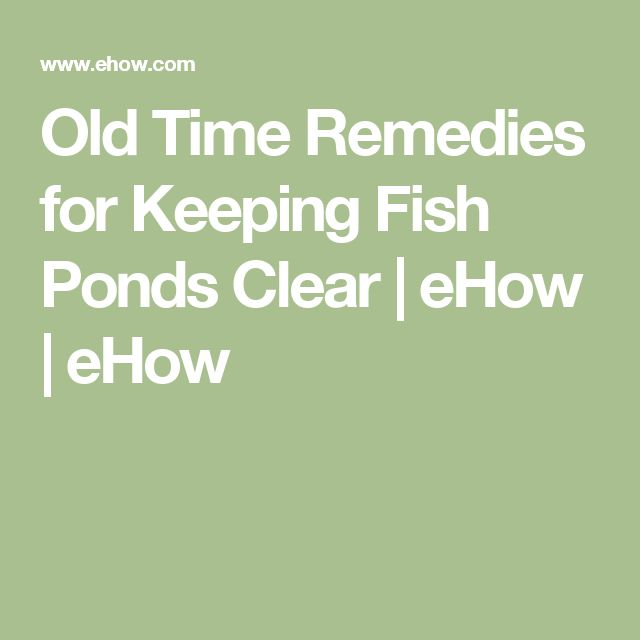 Old Time Remedies for Keeping Fish Ponds Clear | eHow | eHow