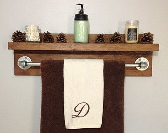 Popular items for rustic towel rack on Etsy