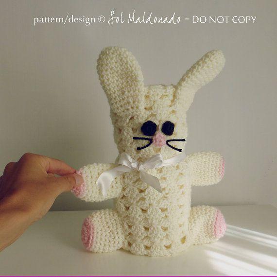 baby bunny blankie pdf crochet pattern  Rabbit  easter baby gif