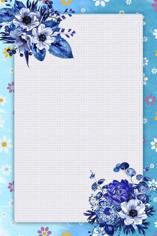 New In Spring Simple Fresh Spring Floral Border Spring Flowers Wallpaper Flower Background Wallpaper
