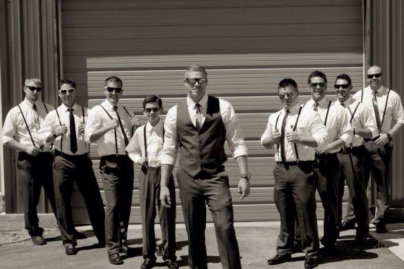 Rustic wedding, wedding, groomsmen, suspenders, summer wedding attire, wedding  photography, men's fashion