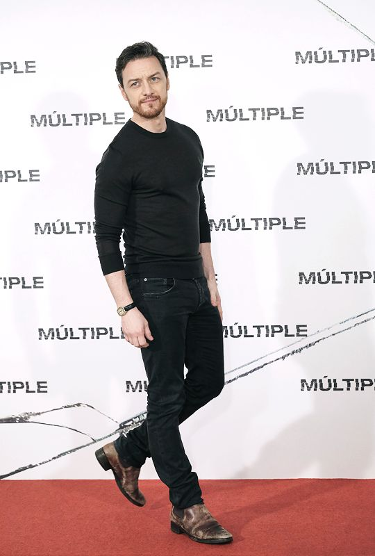 James Mcavoy attends 'Split' photocall at Villa Magna Hotel on January 12, 2017 in Madrid, Spain.