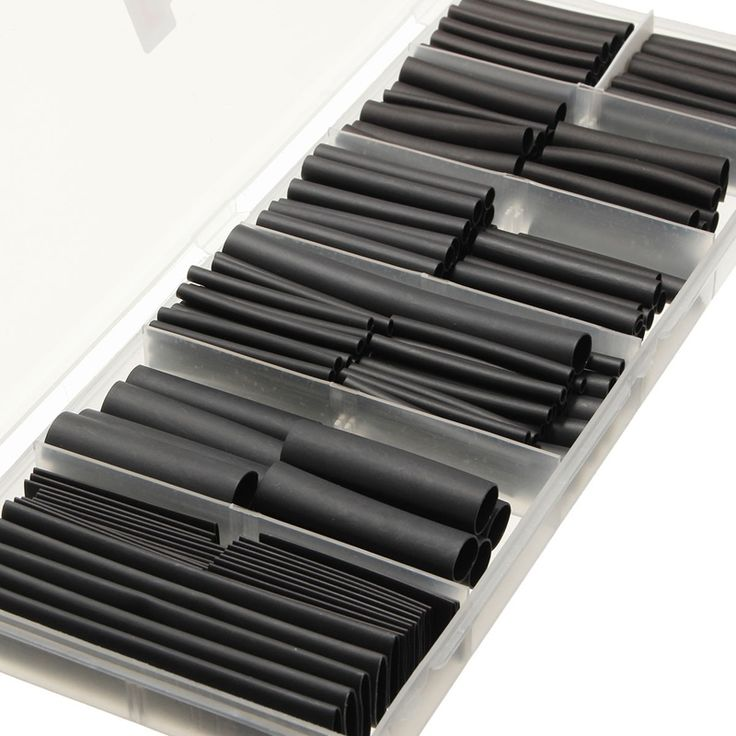 240 Unids Negro Poliolefina 2:1/Libre de Halógenos 3:1 Heat Shrink Tube Tubo Manguitos Kits para Cable Del Abrigo Del Alambre Kit manga 12 Tamaños