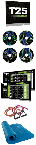 Want to get it done better and faster? Prepare to take on the next 4 weeks of FOCUS T25®. These advanced GAMMA Cycle workouts and training tools were specially designed to burn more fat, and help you carve lean, strong muscles, fast.