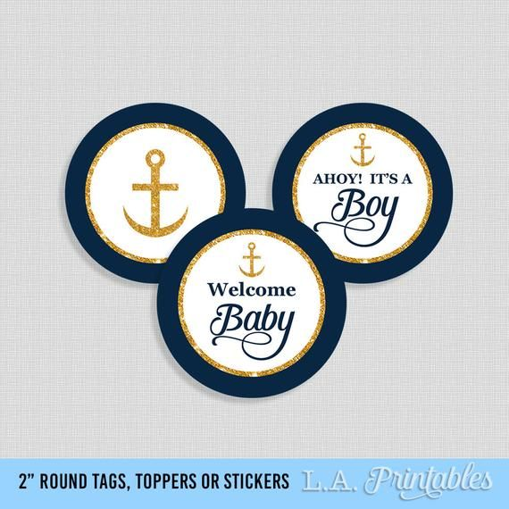 Party Decoration Nautical Gold Anchor Printable Cupcake Toppers Party Favor Tags Home Furniture Diy Tallergrafico Com Uy