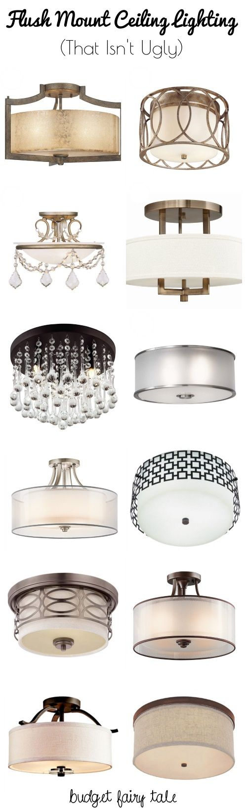 Decorating our Castle: Seeking Flush Mount Lighting Options that Aren't Ugly #lighting