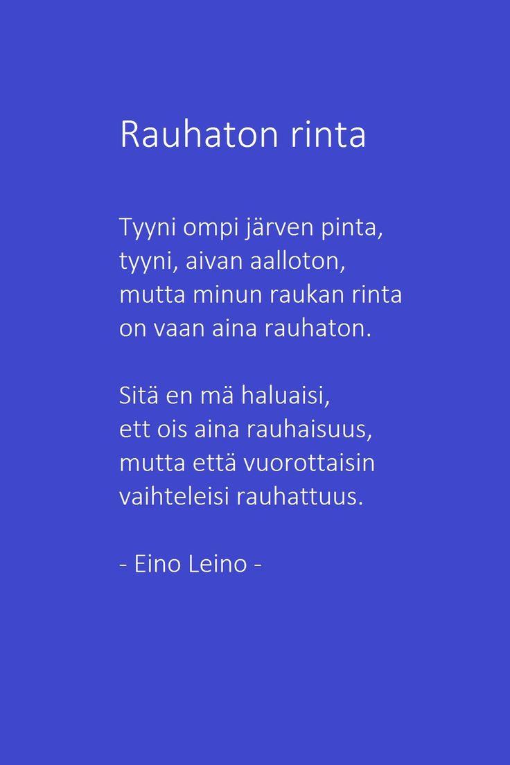 Rauhaton rinta - Eino Leino