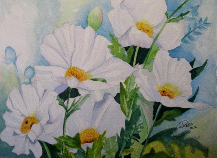 The 165 best white flowers art images on pinterest art flowers watercolour flowers floral paintings white flowers flower paintings mightylinksfo