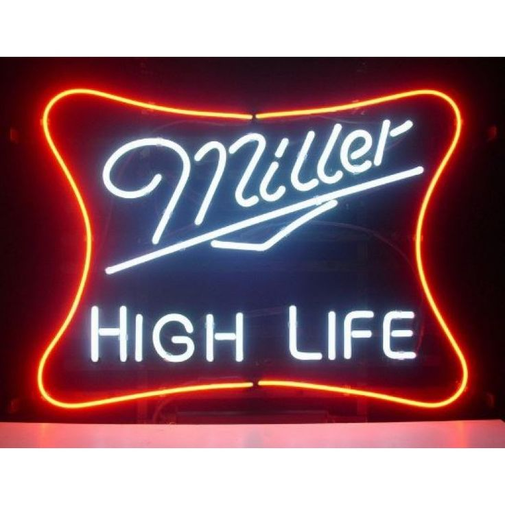 Best 25 neon beer signs ideas on pinterest man cave neon lights new miller lite high life real glass neon light sign home beer bar pub recreation room game room windows garage wall ign aloadofball Image collections