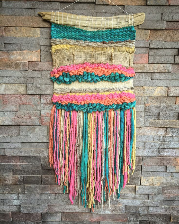 #wovenwallhanging made by #telaresyflecos Un favorito personal de mi tienda Etsy https://www.etsy.com/es/listing/474875843/woven-wall-hanging