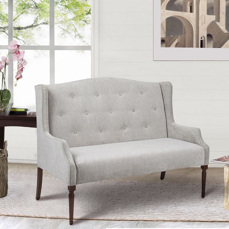 Green Jennifer Taylor Izzy Tufted Settee Bench