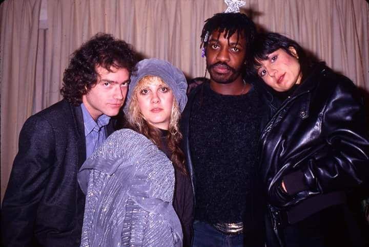Benmont Tench, Stevie Nicks, drummer Steve Jordan and Sharon Celani.