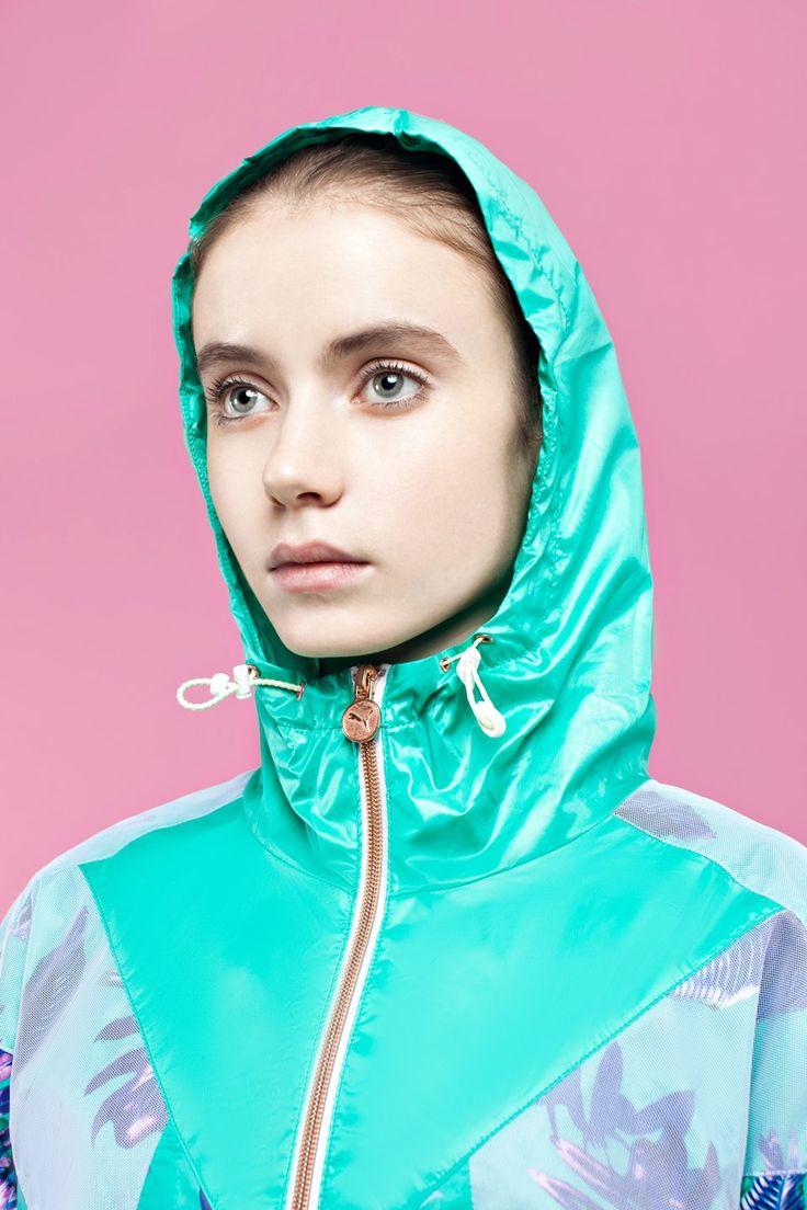 sportswear ideas: puma jacket   palms   pink   sport   fashion   look at me