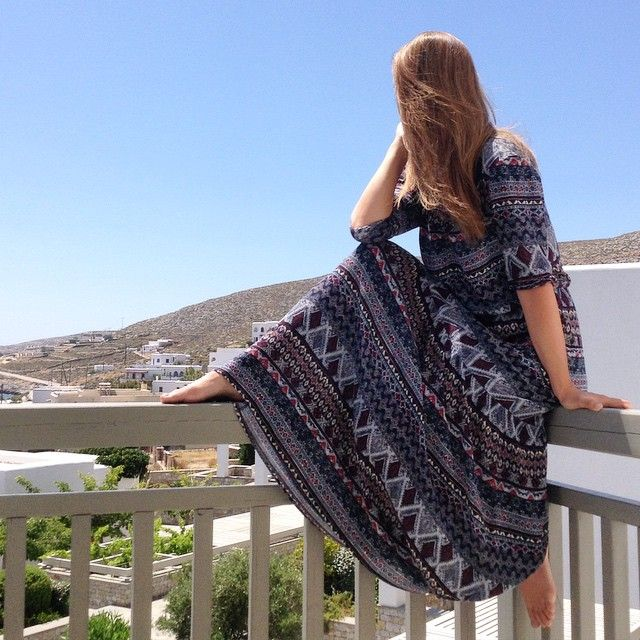 Our guest @colmstyle enjoys the amazing view of #Folegandros right from #AnemiHotel!