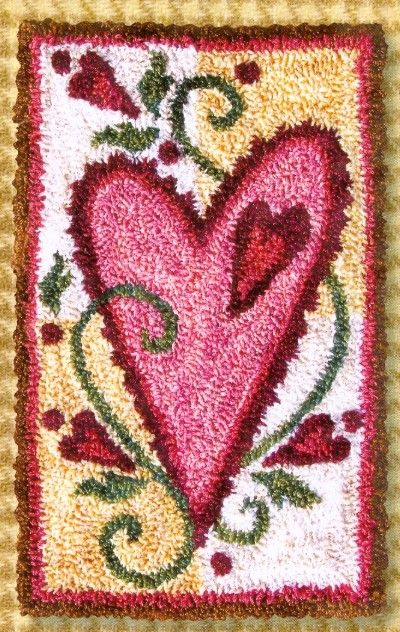 Heart punch needle pattern