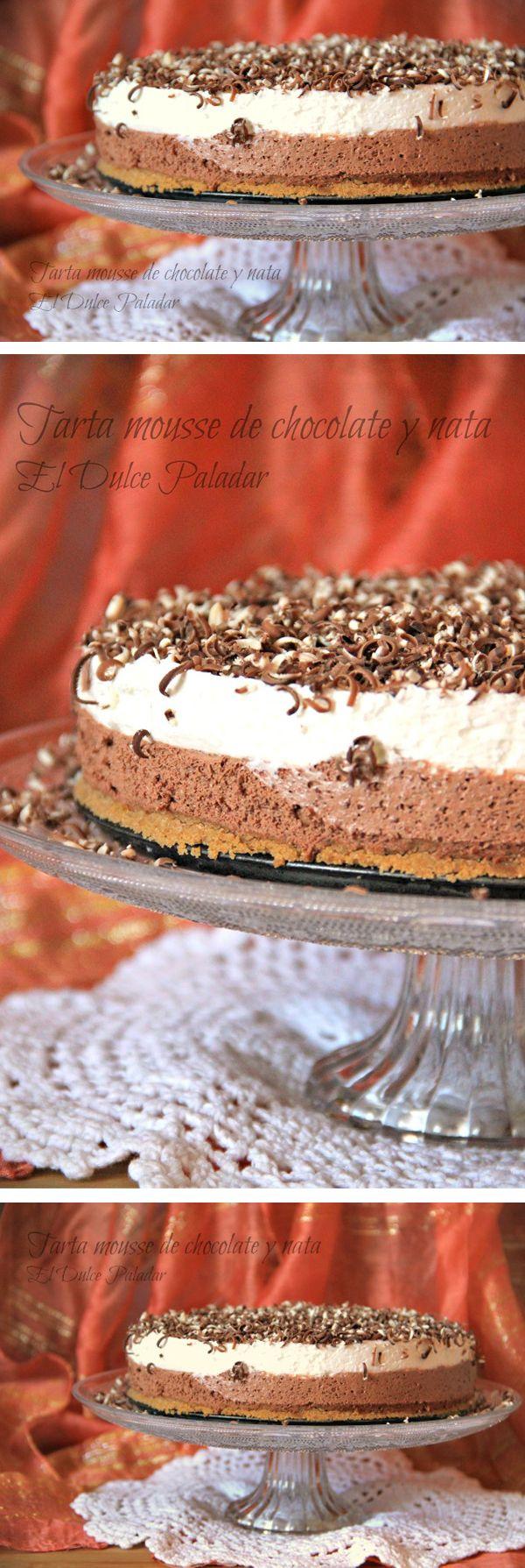 Tarta de mousse de chocolate / http://eldulcepaladar.blogspot.com.es
