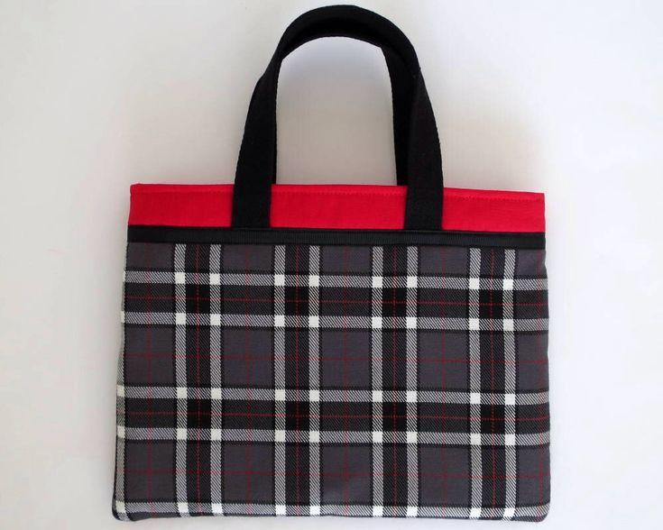 Tartan Bag, Mini Hand Bag, Book Bag, Tartan Bag, Black Tartan, Tartan Purse, Tartan Book Sleeve, Tartan Gifts, Fashion Bags, Plaid Bags by JadoreBooks on Etsy https://www.etsy.com/au/listing/571824334/tartan-bag-mini-hand-bag-book-bag-tartan