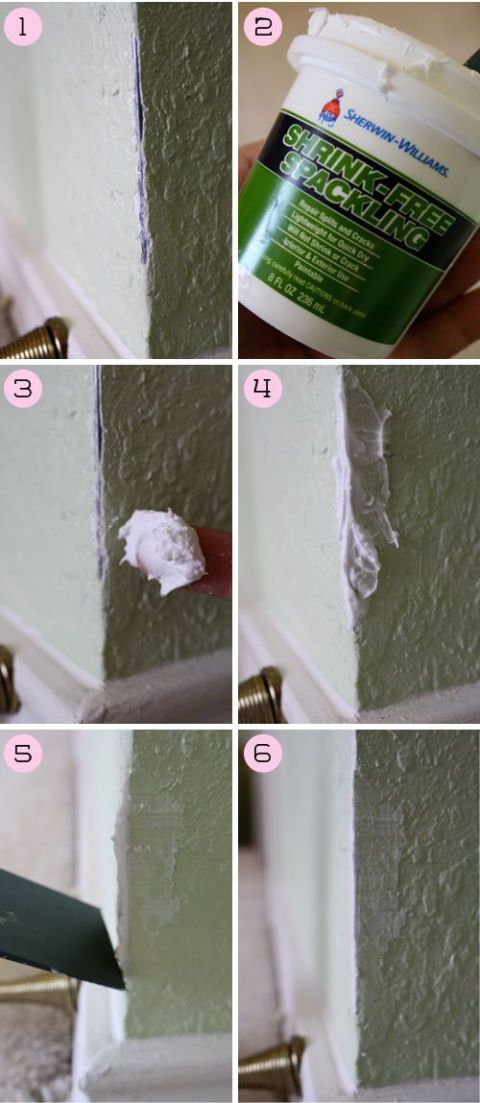 Don't just paint over your problems (that won't fix anything). Grab some spackle and a plastic knife to even out holes on your corner or dents in your wall — then add paint on top of your smooth-as-can-be wall. Get the tutorial at Behind the Studio »