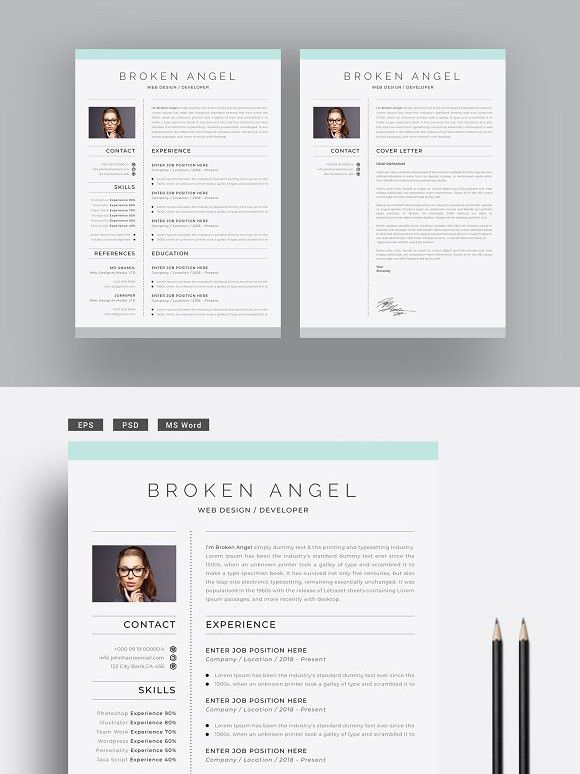 Minimal Resume Cover Letter | Resume Templates | Cover ...